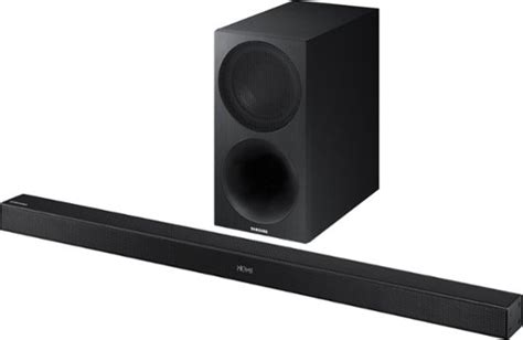 samsung 2 1 channel soundbar system with 7 quot wireless subwoofer black hw m450 za best buy