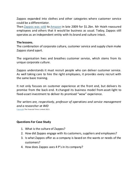 zappos cover letter zappos study wow