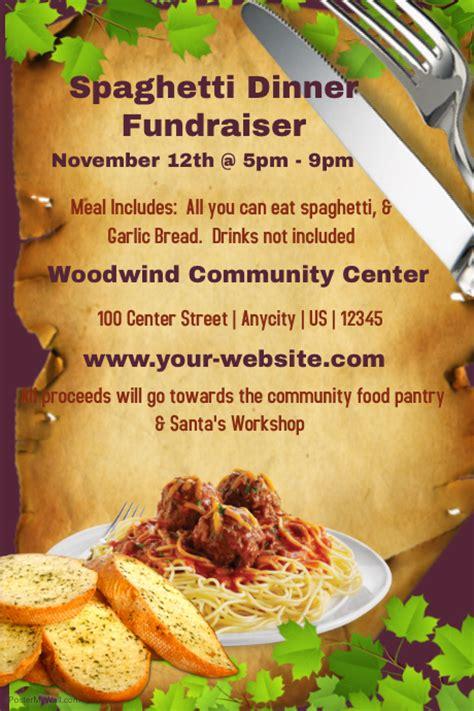 Spaghetti Dinner Fundraiser Template Postermywall Spaghetti Dinner Fundraiser Flyer Template