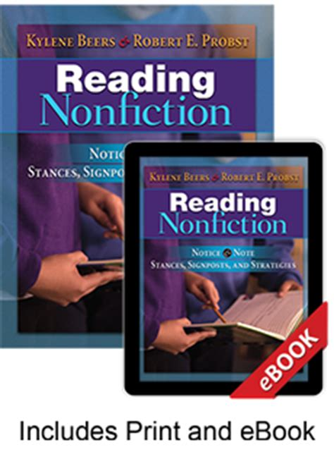 reading nonfiction notice note stances signposts and strategies reading nonfiction print ebook bundle by kylene beers