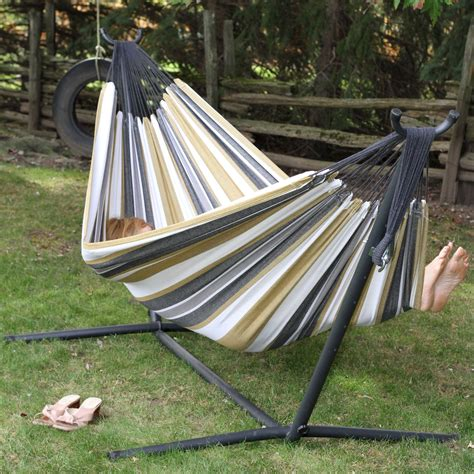 Hammock Stand Sets Sale Vivere Fabric Hammock With Steel Stand Hammock