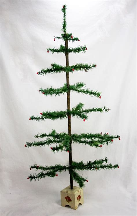 antique german christmas feather tree 38 quot ca1920 ebay