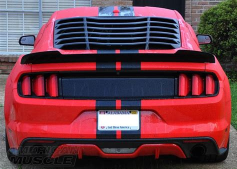mustang rear window louver s550 mustang louvers explained americanmuscle