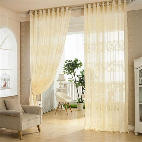 european sheer curtains 2 panel european style jacquard breathable voile sheer