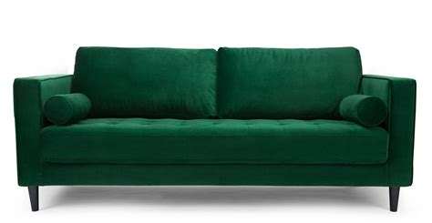 canape velour canap 233 design en velours vert canap 233 3 places