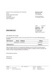 Muster Offene Rechnung Muster Zahlungserinnerung Erstellt Mit Dem Programm Hth Rechnungen