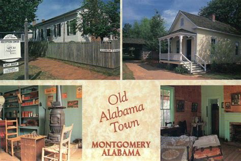we buy houses montgomery al old alabama town montgomery al outdoor museum tavern shotgun house postcard ebay