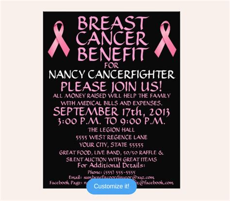 20 Breast Cancer Flyer Templates Psd Vector Eps Jpg Download Freecreatives Cancer Benefit Flyer Template