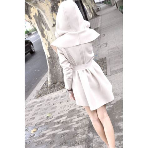 31094 Apricot Leisure Size M euramerican leisure shawl style slim back plicated hooded wind coat apricot m alex nld