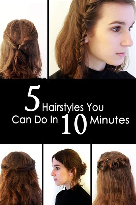 Hairstyles You Can Do In 5 Minutes | 5 quick easy hairstyles you can do in 10 minutes photo