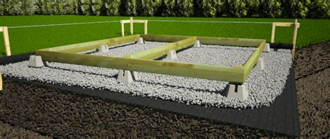 Simple Shed Foundation by Design And Build A Foundation For Your Storage Shed 1