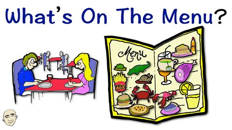 what s what s on the menu easy english conversation practice