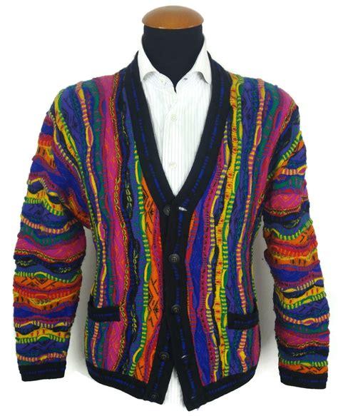 multi color cardigan vintage 90s coogi cardigan sweater size m medium cosby