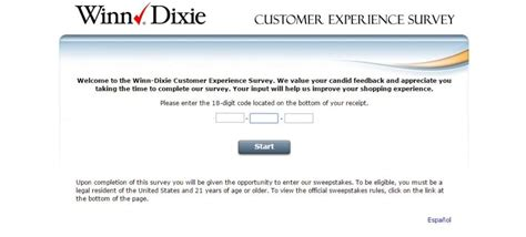 Winn Dixie Sweepstakes - www winn dixie survey com grcom info
