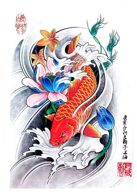 red koi fish tattoo designs www pixshark com images