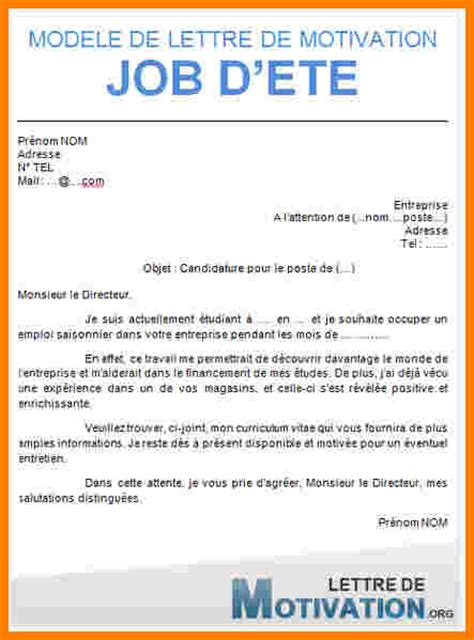 Exemple De Lettre De Motivation Pour Tudiant 9 lettre de motivation 233 tudiant lettre officielle