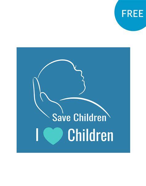 free logo design and save save child logo psd templates