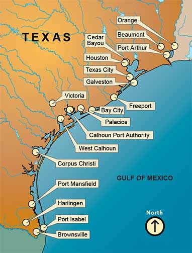 port texas map texas ports association texas ports gateways to the world