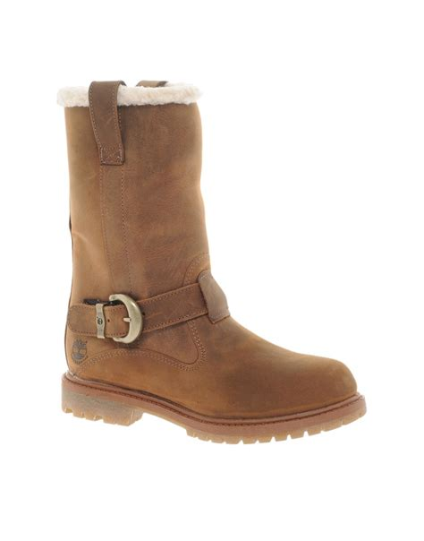timberland timberland nellie pull on flat boot at asos