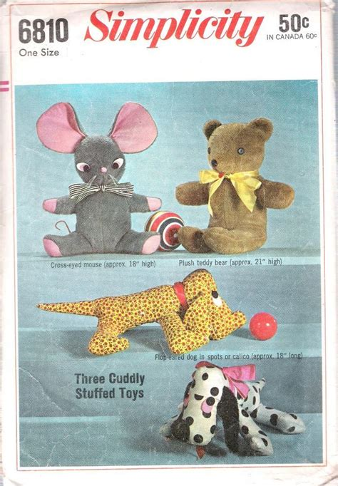vintage mouse pattern vintage sewing pattern toys 6810 stuffed animals mouse