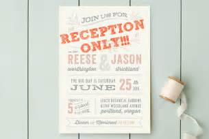 reception only wedding invitations that won t make your guests feel excluded offbeat