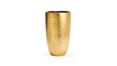 Gold Vase aerin lauder golden textured vase buy at luxdeco