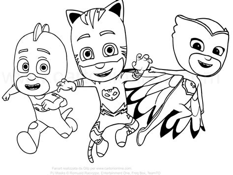 Pj Mask Coloring Pages Pictures To Color And Print Pictures To Colour