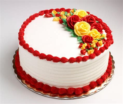 home made cake decorations red and yellow coloured cake online cake delivery in