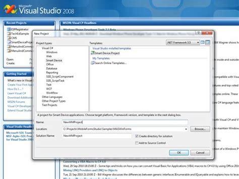 tutorial visual web developer 2008 7 steps for development of mobile enterprise app codeproject