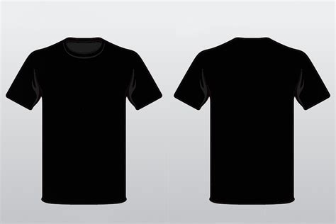 black t shirt template lisamaurodesign