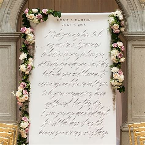 Wedding Backdrop Personalized by Modern Tale Personalized Premium Canvas Backdrop