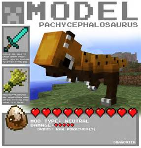 fossils and archeology mod time machine minecraft pachycephalosaurus by dragonith on deviantart