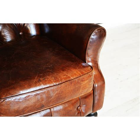 Wingback Leather Armchair by Antique Leather Wingback Chesterfield Armchair By Majeurs