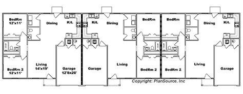 triplex floor plans triplex j1313 t plansource inc