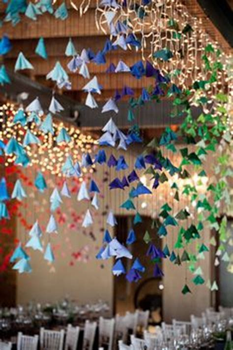 Origami Hanging Flowers - 1000 images about wedding decor origami on