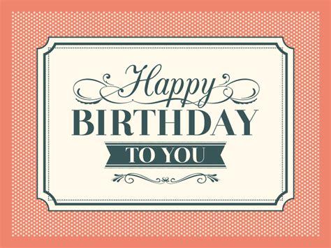 Retro Birthday Card Template by Retro Birthday Card Vector Free Vector Graphic