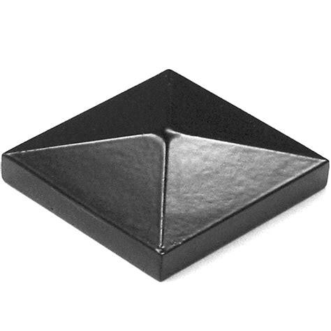 Porch Post Caps shop barrette black aluminum porch post cap at lowes