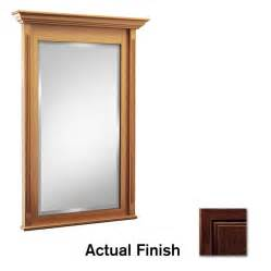 kraftmaid bathroom vanity mirrors shop kraftmaid 42 in w x 36 in h kaffe rectangular