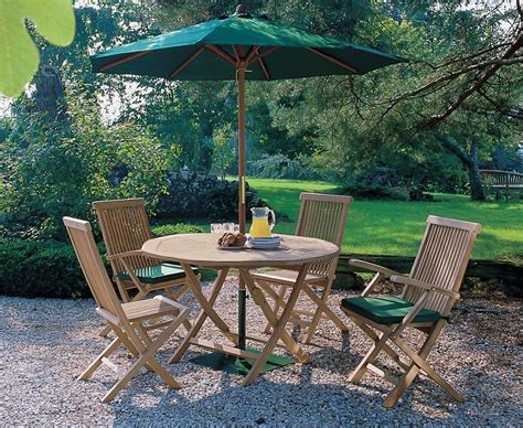 Ashdown Folding Round Garden Table And Chairs Set Folding Patio Dining Set
