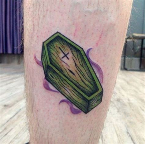 coffin tattoos 40 must see tattoos for temporary