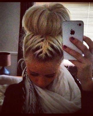 how to back your braids in doughnut bun by the sife buns french braids and braids on pinterest