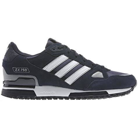 adidas originals zx 750 mens trainers running shoes navy ebay