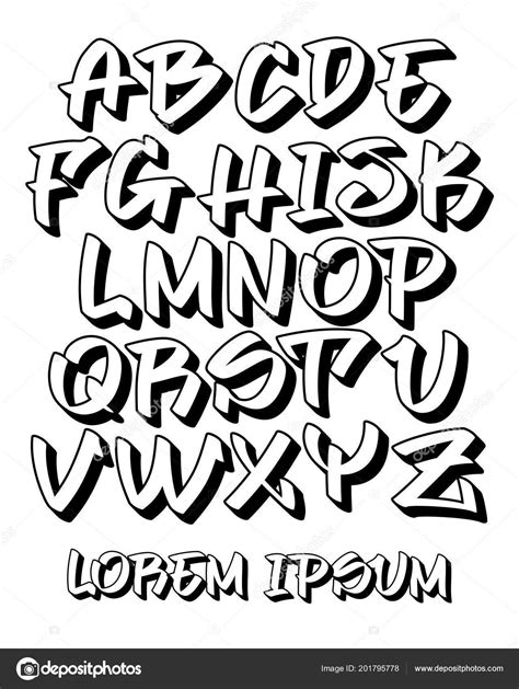 Descargar - Fuente Vectorial Mano Legible Graffiti Escrita
