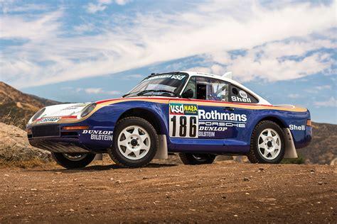 porsche 959 rally auction block 1985 porsche 959 dakar rally car
