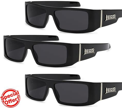large black l shades locs sunglasses men s motorcycle riding gloss black