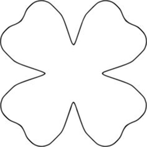 clover flower template printable flower template cut out clipart best clipart