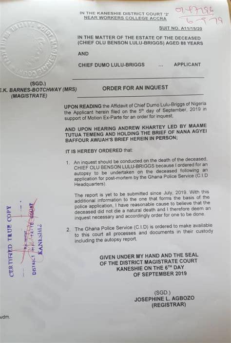 court orders inquest  nigerian billionaires death