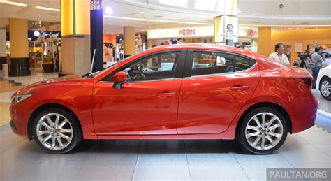 mazda 3 leather seats malaysia mazda 3 now with leather seats for no charge image
