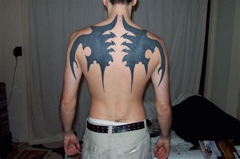 back tattoos for black men tribal black ink back