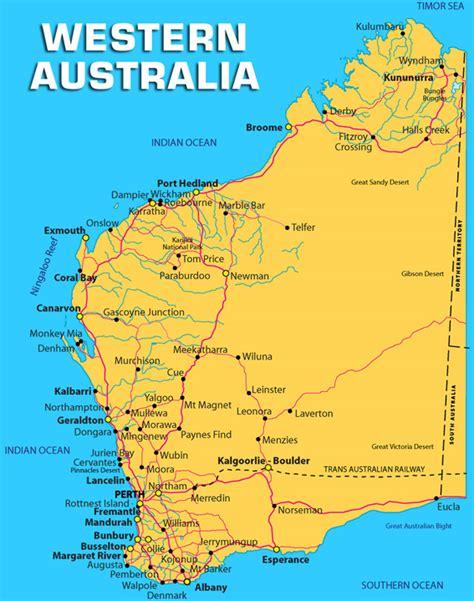 map of western australia western australia map